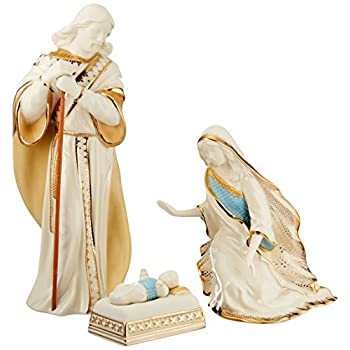 Image of Home and Kitchen Lenox 6238430 First Blessing Nativity 3-Piece Holy Family Figurine Set