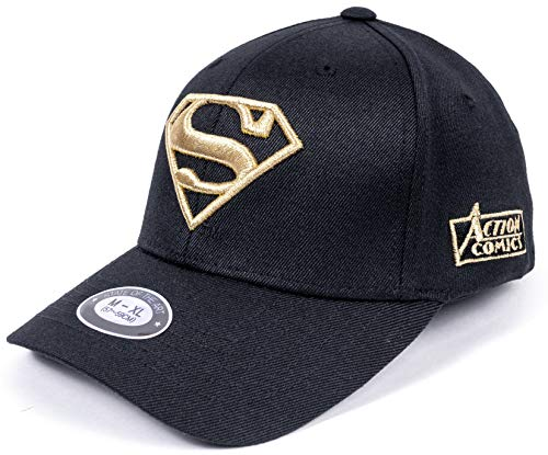 - DC Comics Superman Fitted Hat Men Women Flexfit Ball Cap Baseball Cap (M~L, 22.44