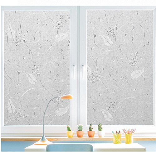 Bloss Static Cling Non-adhesive Window Film Frosted Glass...