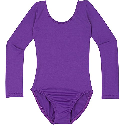 Infant Baby Girl Leotard for Dance, Gymnastics and Ballet with Long Sleeve Purple T -