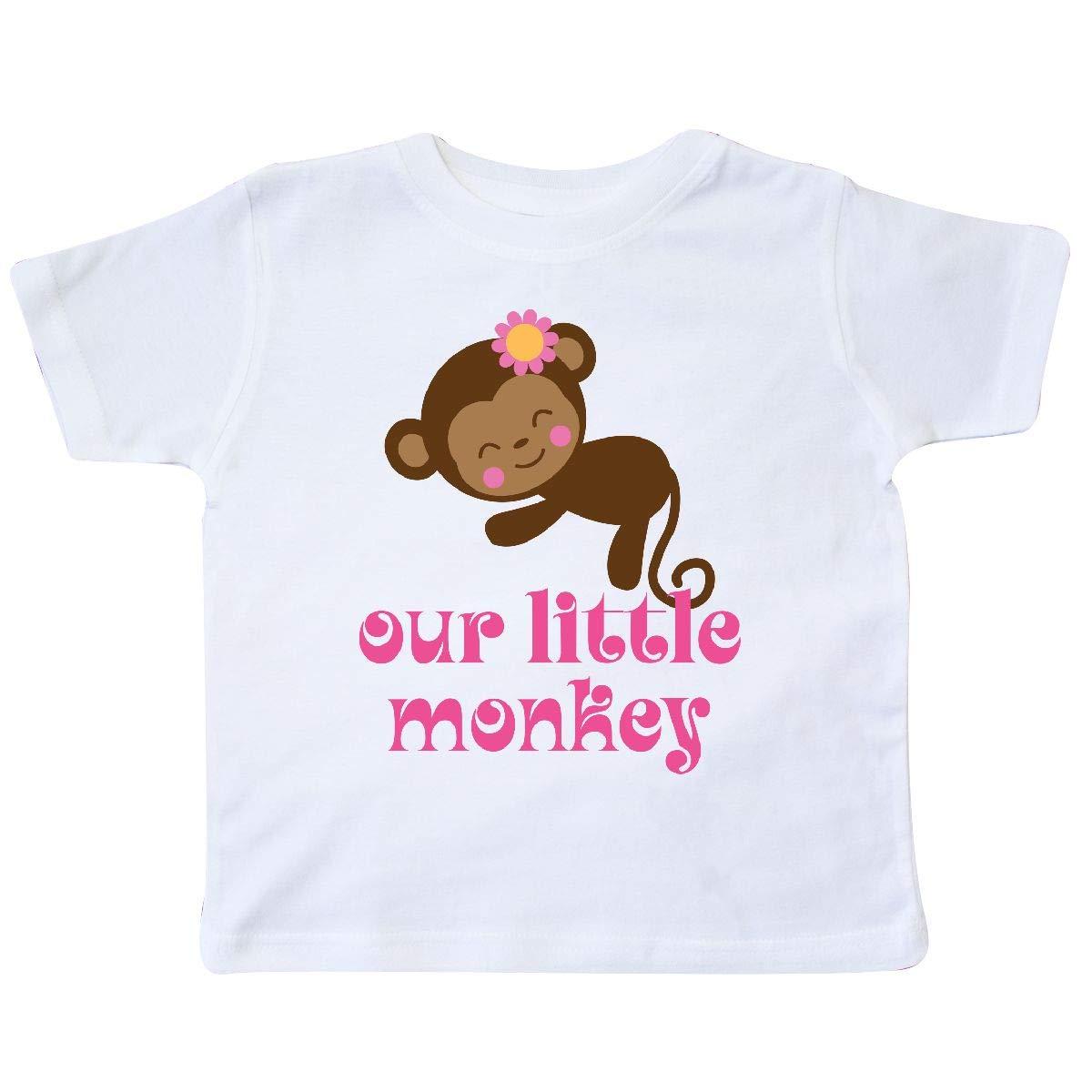 inktastic Girl Monkey Kids Gift Toddler T-Shirt