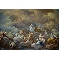 fan products of The High Quality Polyster Canvas Of Oil Painting 'Giaquinto Corrado San Lorenzo En La Gloria 1755 56 ' ,size: 10 X 14 Inch / 25 X 37 Cm ,this High Definition Art Decorative Prints On Canvas Is Fit For Study Gallery Art And Home Decor And Gifts