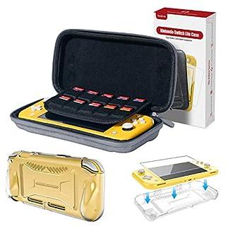 moleve Nintendo Switch Lite Case with TPU Switch Lite Clear Case & Switch Lite Screen Protector, Portable Carrying Case for Nintendo Switch Lite 2019, Switch Lite Accessories