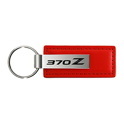 Nissan 370Z Red Leather Car Key Chain , Official Licensed: Automotive