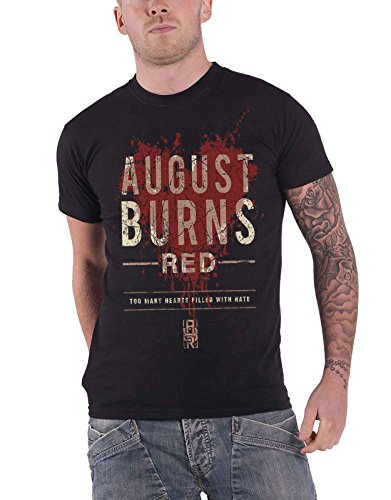 August Burns Red T Shirt Hearts Filled Band Logo Official Mens Black
