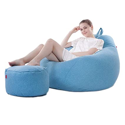 Amazon.com: Large Lazy BeanBag Sofas Cover Chairs Footstool ...