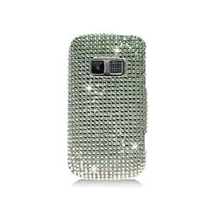 Kyocera Brio Bling Gem Jeweled Jewel Crystal Diamond Silver Cover Case