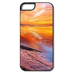 IPhone 5S Cases, Free Beautiful Landscape Cover For IPhone 5 - White/black Hard Plastic