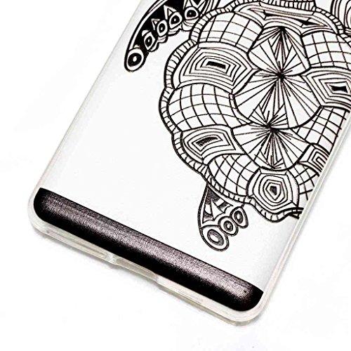 Funda para Sony Xperia E5 , IJIA Transparente Arco Iris Unicornio TPU Silicona Suave Cover Tapa Caso Carcasa Cubierta para Sony Xperia E5 HX47