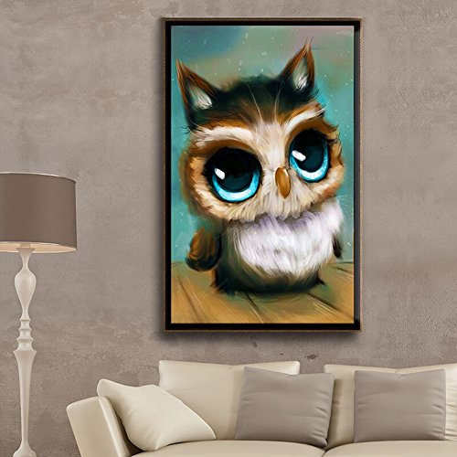 Painting Cross Stitch - 30 45cm 3d Square Diamond Painting Cross Stitch Kit Diy Adorable Owl Embroidery Rhinestone - Pattern
