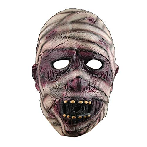 Stheanoo Halloween Horror Mask Simulation Old Man Head Full Face Shield Headgear for Rave Face Ornament Decoration Cosplay Costume Dress up for Easter Party -