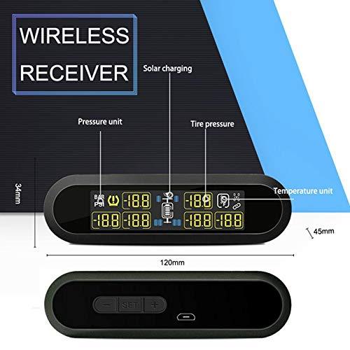LayOPO TPMS Reifendruckkontrollsystem mit 6 Sensoren f/ür PKW RV LKW Abschleppwagen Reiseanh/änger Gro/ßes Echtzeit-LCD-Display USB Autorad Autotemperatur Batteriespannungsalarm