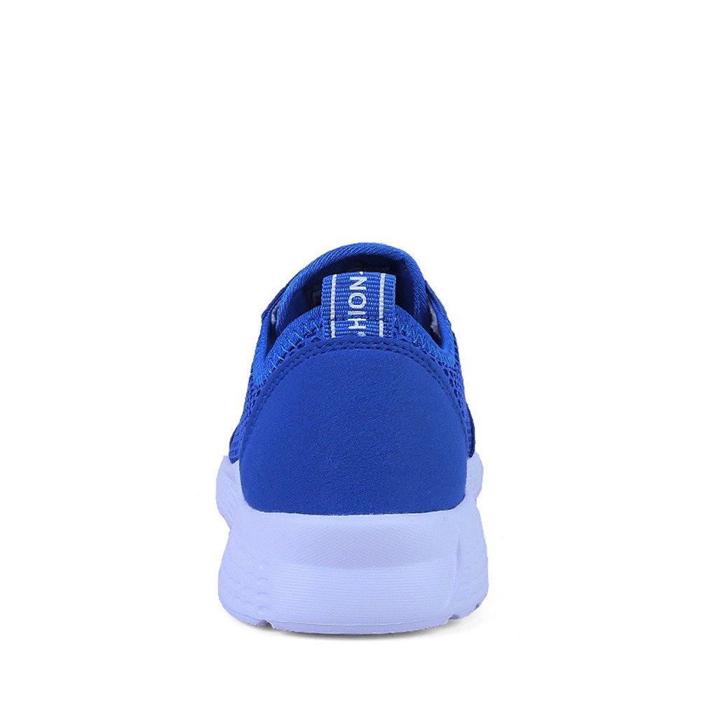 Leichte athletische Laufschuhe der Männer gehende Frauen Breathable Maschen obere gehende Männer Liebhaber Turnschuhe (Farbe : Blau, Größe : 49 EU) 8c21d4