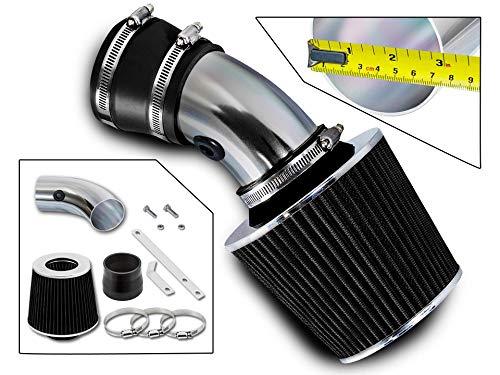 Pontiac Ram Air - Rtunes Racing Short Ram Air Intake Kit + Filter Combo BLACK Compatible For 98-05 Monte Carlo 3.8L / 00-05 Impala 3.8L ...