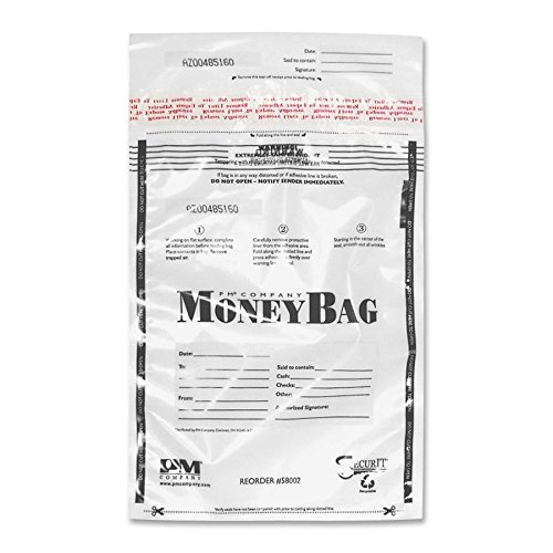 PMC58004 - PM SecurIT Plastic Disposable Deposit Money Bag