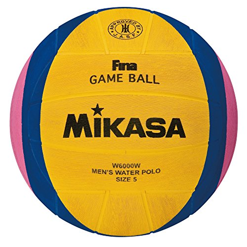Mikasa 2012 London Olympic Water Polo Game Ball (Yellow/Blue/Pink, Size 5) Blue Branded Polo