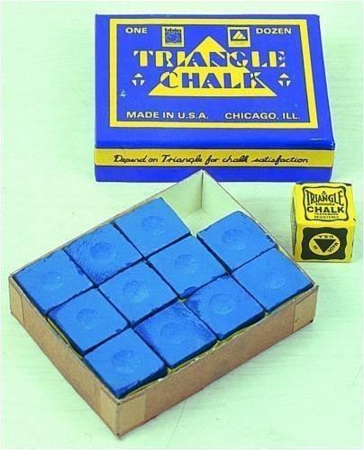 Billardkreide Triangle blau Triangel