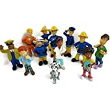 Fireman Sam figures (box not included, split from sets) including Sam, Penny , Elvis, Steele, Boyce, Mandy, Radar, Trevor, Helen, Tom Thomas, Dylis and Normannnnnnnnn