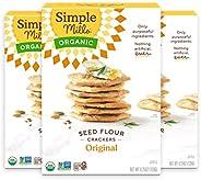 Simple Mills Organic Seed Crackers Original, 3Pk, 12.75 Ounce