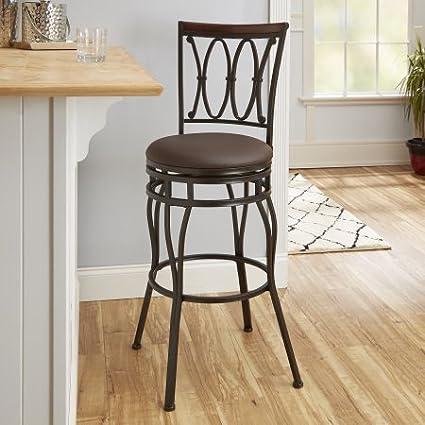 Surprising Amazon Com Adjustable Barstool Oil Rubbed Bronze Wood Cjindustries Chair Design For Home Cjindustriesco