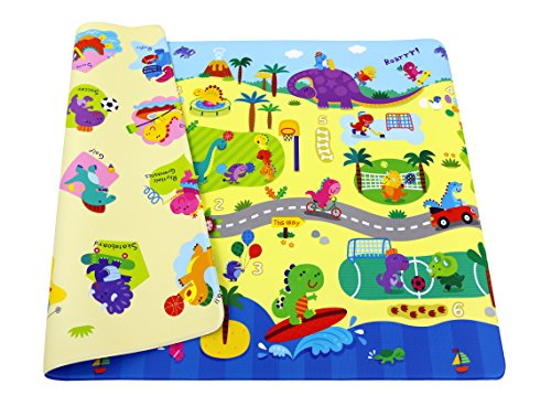 Baby Care Double View Play Mat - Dino Sports (Medium) by Baby Care 185 X 125 X 1.2 CMS