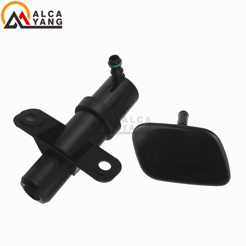 Mathenia Car Parts, For Hyundai Santa Fe MKII 2009 2010 2011 2012 98671-2B000 Front Headlight Washer Lift Cylinder Spray Nozzle Jet And Cover Cap - (Color: Right) by Mathenia