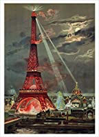 Nouvelles Images Lighting of the Eiffel Tower for The Universal Exposition, Boxed Holiday Card Set (XDB 531)