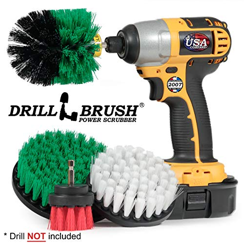 Cleaning Supplies – Drill Brush – Kitchen – Oven – Stove – Cast Iron Skillet – Dish Brush – Bathroom Accessories – Scrub…