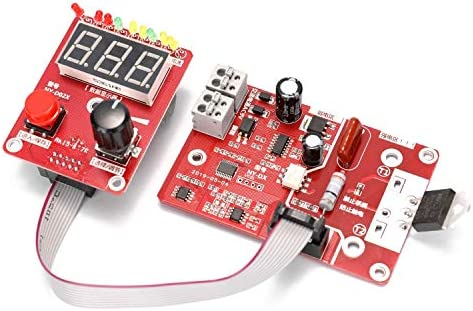 FACAIA NY-D02 100A Double Pulse Spot Welding Controller Encoder Time Current Control Board with Adjustable Digital Display
