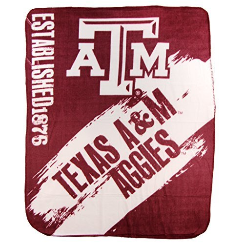 (The Northwest Company NCAA Collegiate School Logo Fleece Blanket (Texas A&M Aggies, 50