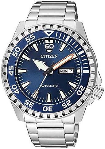 Citizen Reloj Analógico para Hombre de Automático con Correa en Acero Inoxidable NH8389-88LE