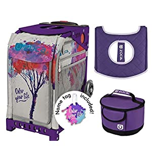 """Zuca """"Color Your Life"""" Sport Insert Bag, Purple Frame, Lunchbox and Seat Cushion"""
