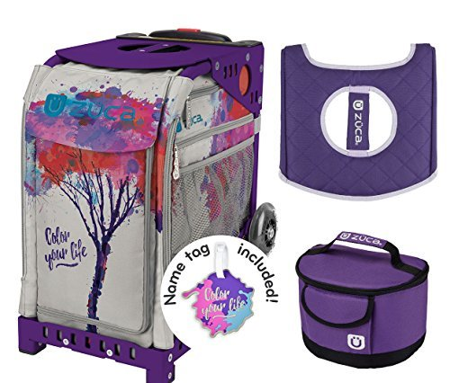 Zuca ''Color Your Life'' Sport Insert Bag, Purple Frame, Lunchbox and Seat Cushion