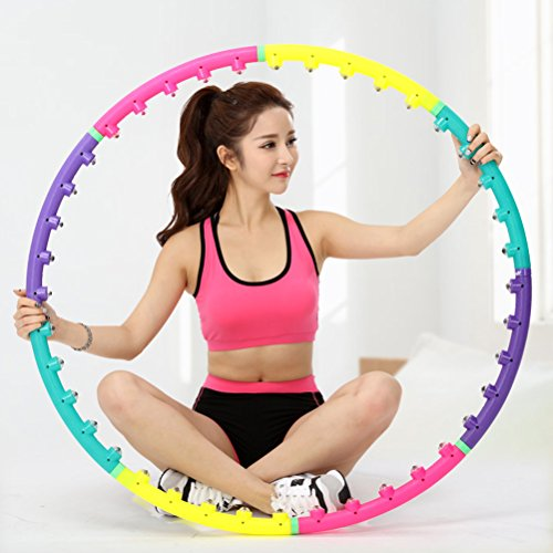 ULTNICE Magnetic Health Hoop Massage Hula Hoop Fitness Exercise Hula Hoop