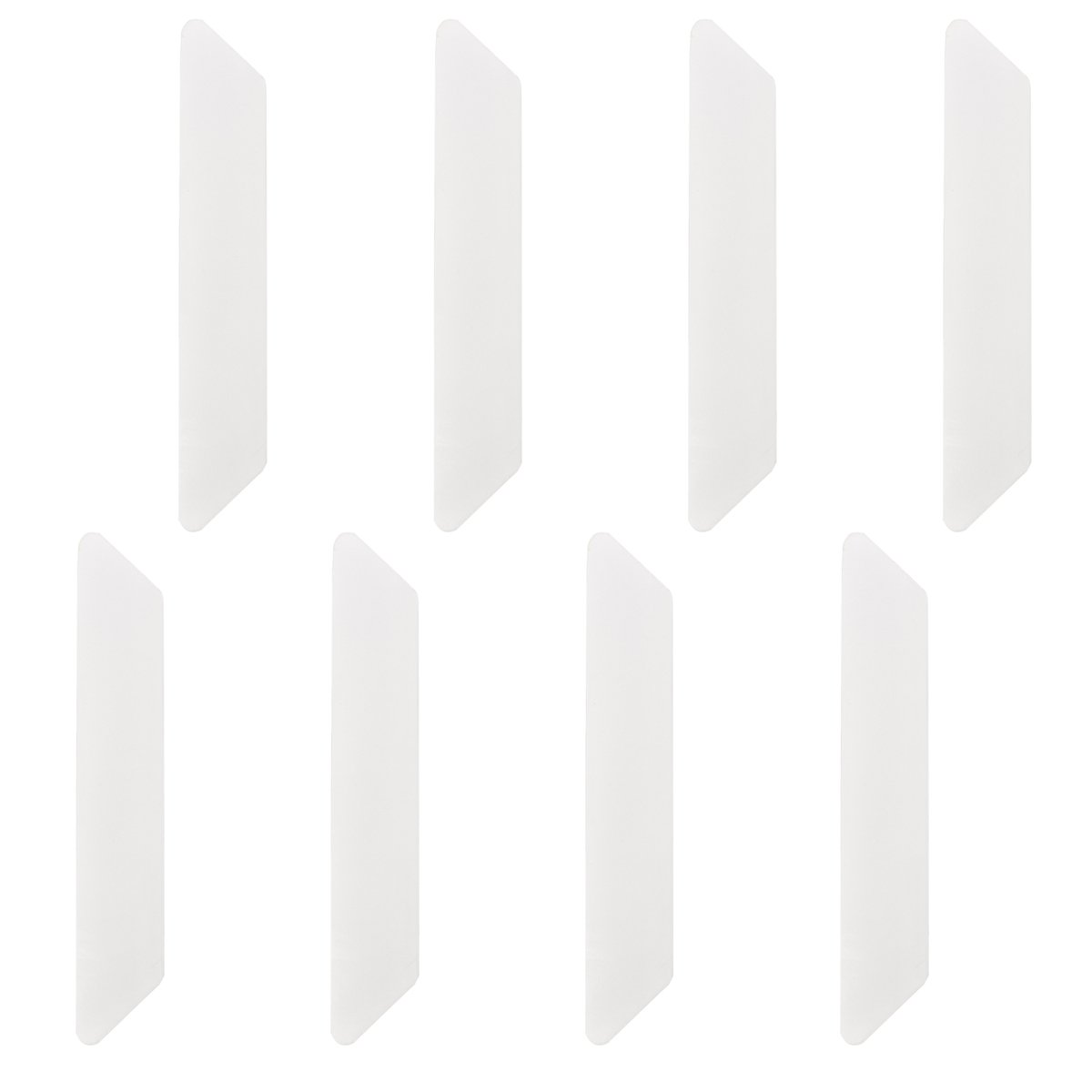 SANSUM Rug Gripper 8pcs White Anti Curling Rug Gripper Non Slip Rug Pad for Rugs Straight Carpet Gripper for Corners and Edges Small
