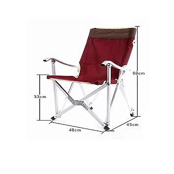 LE Sillas plegables de Aluminio Aluminio Siesta portátil ...