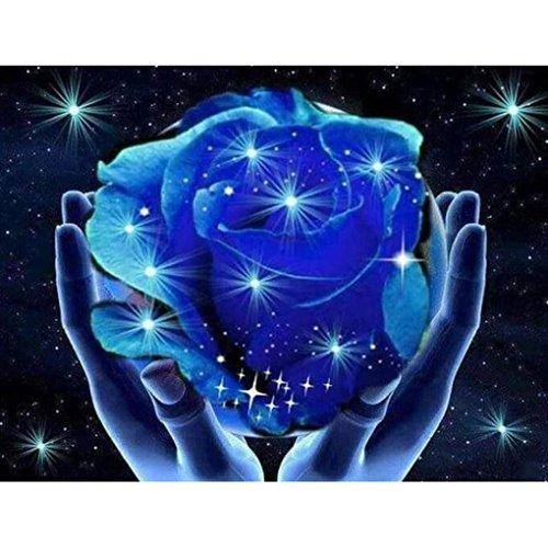Euone® Diamond Painting, Euone5D DIY Cross Stitch Rose Floral Crystal Needlework Diamond Embroidery Flower Diamond Decorative (B) ()