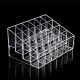 Medius Display 24 Trapezoid Clear Makeup Lipstick Stand Case Organizer White
