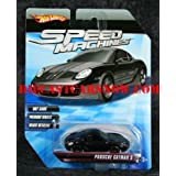 Hot Wheels Speed Machines Porsche Cayman S BLACK 1:64 Scale