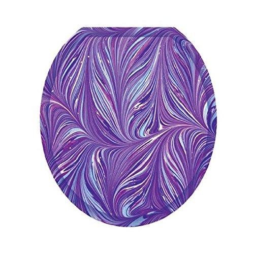 Purple Plumes Toilet Tattoo TT-1023-R Round 80%OFF