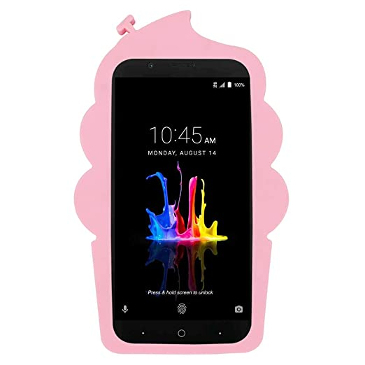 Amazon.com: for ZTE Blade Z Max Case, ZTE Sequoia Case,3D Cute Cartoon Cherry Cupcakes Ice Cream Shaped Soft Rubber Silicone Case Back Cover for ZTE Blade ...
