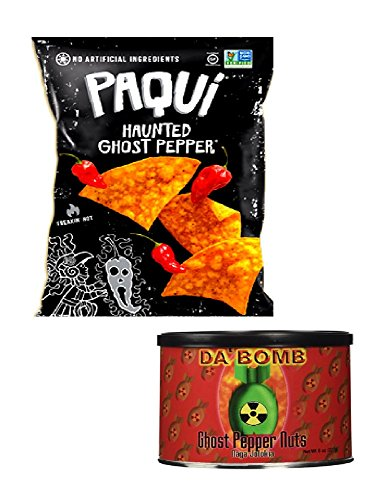 Ghost Pepper Spicy Chips 5.5 oz & Ghost Pepper Spicy Nuts 8 oz Snack Set
