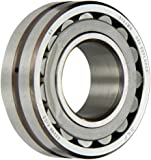 SKF Explorer Spherical Roller Bearing, Straight Bore, Pressed Steel Cage, C3 Clearance, Metric