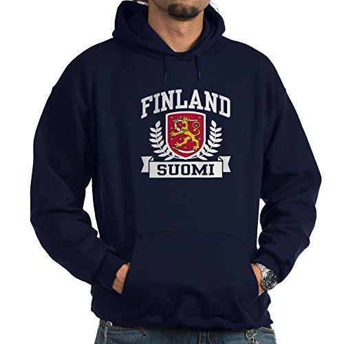 CafePress Finland Suomi Hoodie (Dark) Pullover Hoodie, Classic & Comfortable Hooded Sweatshirt Navy (Finnish Of Arms Coat)