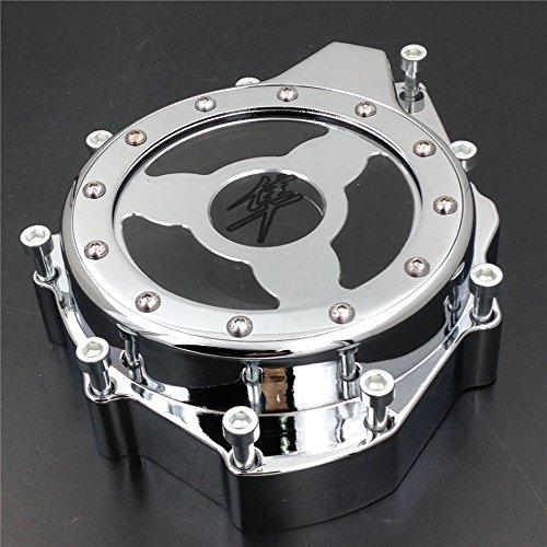 Chrome Stator Cover (HTT- Glass See Through Engine Stator Cover For Suzuki Gsx1300R Hayabusa 1999-2013 Chrome)