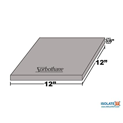 Sorbothane Vibration Damping Sheet Stock 30 Duro 3/8