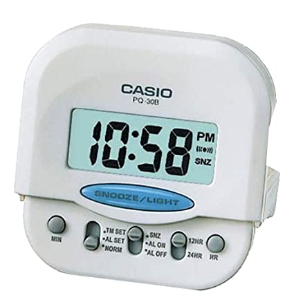 Reloj Despertador digital blanco CASIO PQ-30B-7DF