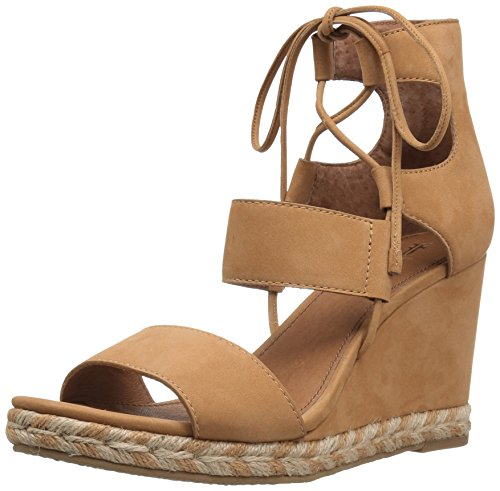 FRYE Women Roberta Ghillie Wedge Sand