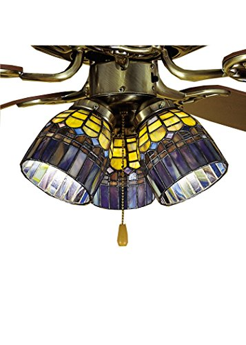Meyda Tiffany 27466 Tiffany Candice Fan Light Shade, 4