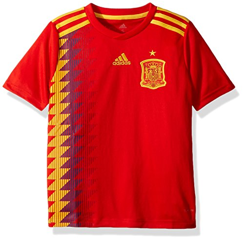 08c99ee9b adidas Kids Boy s 2018 Spain Home Jersey (Little Kids Big Kids) Red Bold  Gold Medium